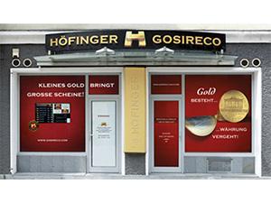 Logo Höfinger-Gosireco GmbH - Geld für Gold
