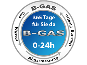 Logo B-GAS - Installateur & Notdienst + Vaillant, Junkers, Baxi Service
