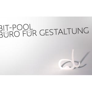 Logo bit-pool . Büro für Gestaltung