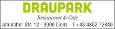 Werbung Cafe-Restaurant Draupark