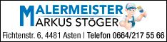 Werbung Malermeister Markus Stöger