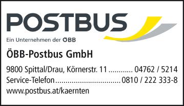 Werbung ÖBB-Postbus GmbH - Verkehrsstelle Spittal