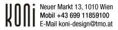 Werbung KONI Design Vienna