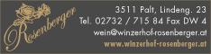Werbung WINZERHOF Stefan Rosenberger