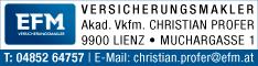 Werbung EFM Versicherungsmakler - Roland Gratl