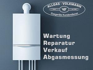 Logo Allgas - Volkmann GmbH - Gasgerätekundendienst