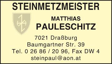 Werbung Pauleschitz Steinmetzmeister