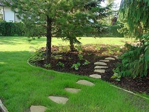 Logo Grün + Landschaft Gartengestaltung