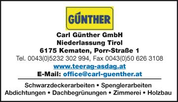 Werbung Günther Carl GesmbH
