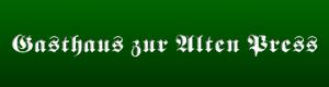 Logo Gasthaus zur Alten Press Inh Dieter Skrobanek