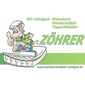 Logo ZÖHRER Peter - Polstermöbel-,  Matratzen-,  u Teppichbodenreinigung