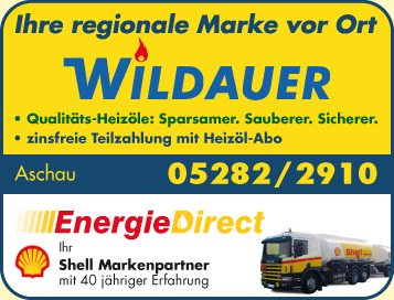 Werbung Shell Markenpartner - Energie Direct - Wildauer