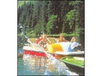 Am Zauchensee mit dem Tretboot