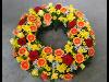 Thumbnail - Blütenkranz mit Rosen, Germini und Narzissen