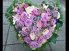 Thumbnail - Trauerherz mit fliederfarbigen Rosen