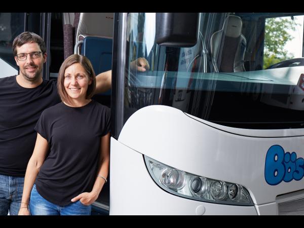 Vorschau - Geschäftsleitung Bösch Reisen Claudia Bösch und Tobias Gächter