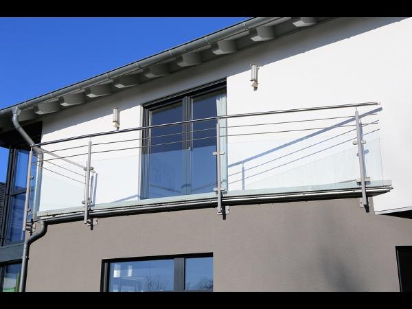 Vorschau - Geländer mit Glas