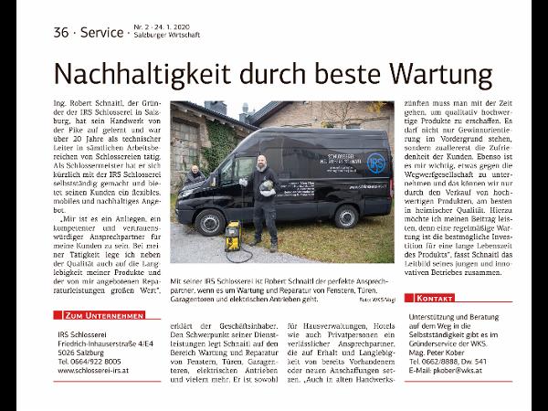 Vorschau - WKS - Wirtschaftzeitung 2020