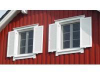 Aluminium-Fensterläden mit starren Lamellen