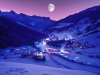 Gerlos bei Nacht im Winter