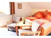 Schlafzimmer in der Ferienwohnung am Glitschnerhof