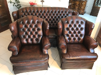 3 teilige Chesterfield Sitzensemlbe