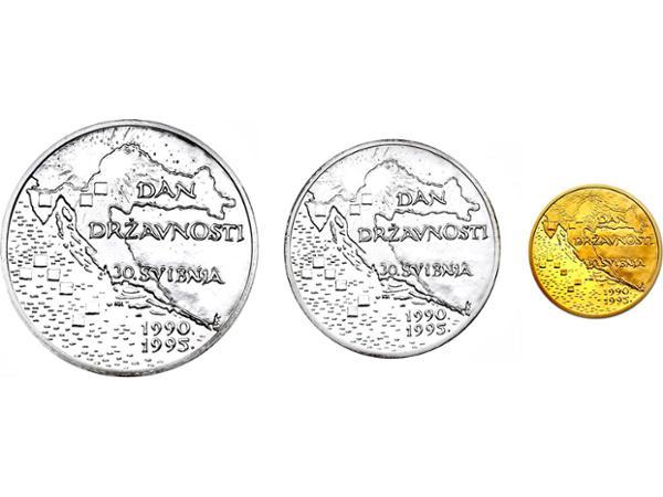 Vorschau - Kursmünzenset Kroatien 1995