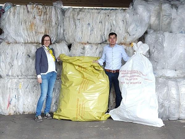 Mineralwolle-Sammelsack aus  recycelter LDPE-Folie