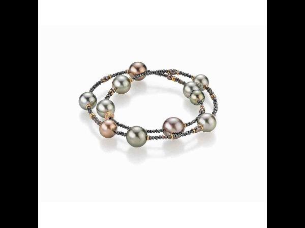 Perlarmband mit Diamanten von Gellner