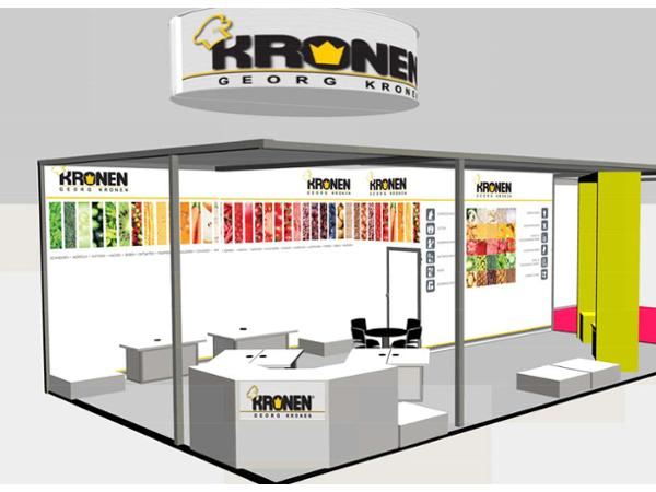 Messestand Kronen Grafik & Design