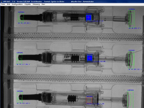Vorschau - Bildverarbeitung Spritzen