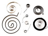 Spiralfedern, Triebfedern, Schlossfedern, Rollfedern (Gleichkraftfedern), Rollbalkenfedern