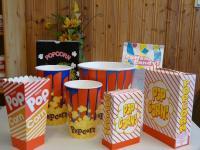 Popcornbecher, Tüten, Boxen, Zuckerwatte Sackerl