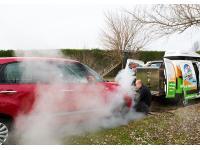 Außenreinigung mit Dampf
