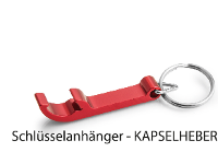 Kapselheber 'Basic' aus Aluminium mit Schlüsselring