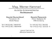 Mag. Werner Hammerl österreichischer und deutscher Rechtsanwalt