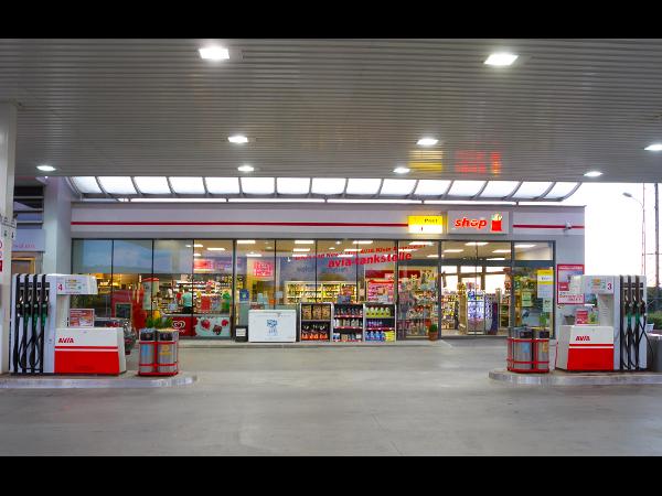 Vorschau - AVIA Tankstelle Frontansicht