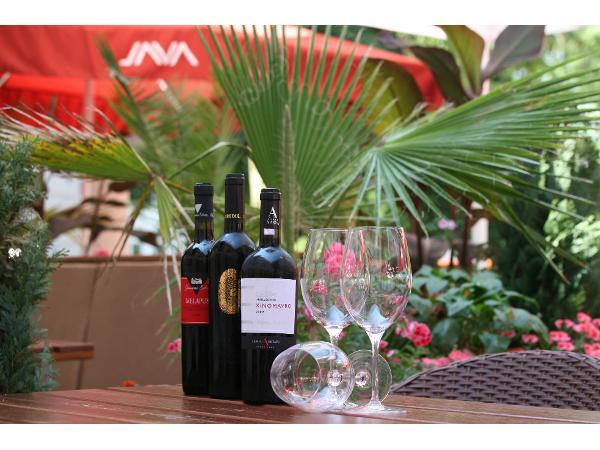 Vorschau - Griechische Weine genießen im Garten Restaurant Akropolis Baden
