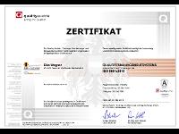 ISO9001:2015-Zertifikat