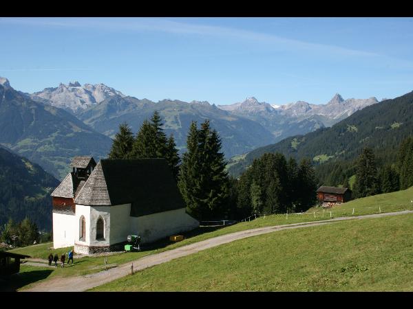 St. Agatha Kirche am Kristberg in Silbertal im Montafon