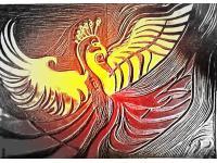 Phoenix aus Feuer und Asche geboren
