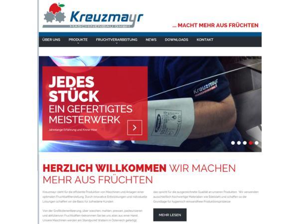 Website Kreuzmayr Maschinenbau Wallern