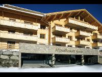 Frontansicht AlpinLodges Kühtai