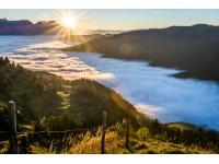 Sonnenaufgang am Spielberg in Leogang by Peter Kuehnl