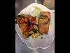 Lachsfilet mit Pesto und Gemüse
