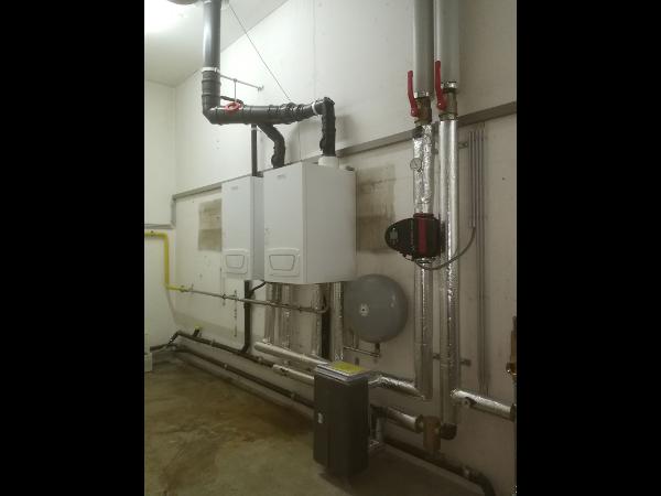 Vorschau - Heizungssanierung  2x Bötje-Gasbrennwertkessel 70kW mit Kaskadenregelung