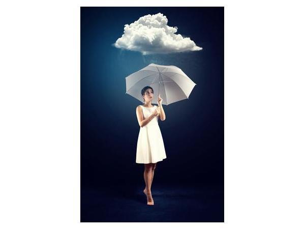 ...den passende Schirm, damit Sie nicht länger
