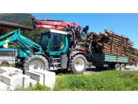 Brennholz-Transport mit Fendt Xylon