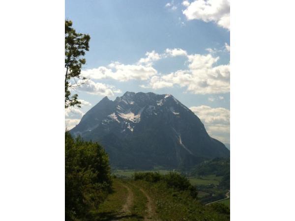 Ausblick auf den Grimming vom Glitschnerhof aus