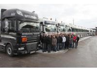 LKW - Flotte der Firma Spitbart/Steinerkirchen OÖ